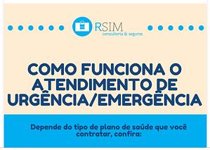 [INFOGRÁFICO] Como funciona o atendimento de urgência /emergência?