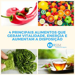 4 alimentos que geram energia