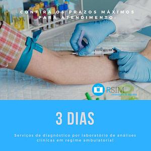 Prazo de Atendimento para procedimentos laboratoriais